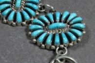 Sleeping Beauty Turquoise Cluster Link Bracelet by Josie Oweleon