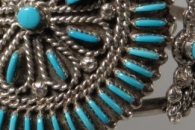 Turquoise Petitpoint Bracelet and Matching Ring by Terry Loncasion