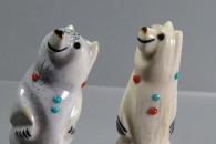 Standing (bus stop) bears by Claudia Peina
