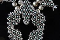 Squash Blossom Necklace set with earrings by Zuni (view 2)