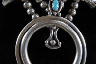 Squash Blossom Necklace - artist unknown (detail)