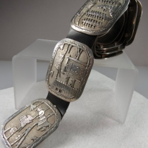 Storyteller Concho Belt by Becenti, Navajo