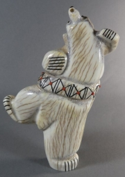 Bear with sash by Claudia Peina