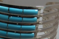 Kingman Turquoise Cuff Bracelet by Anson and Letitia Wallace