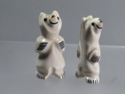 Standing plain bears by Claudia Peina