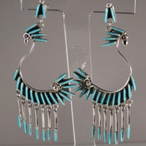 Dangle Earrings 'swan' by Jeannie Lastiyano