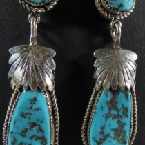 Dangle earrings by Robert & Bernice Leekya