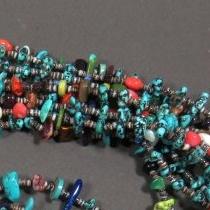 Sea Foam Turquoise Treasure Necklace by Nestoria Coriz