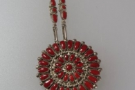Pin/pendant with chain by Lorraine Waatsa