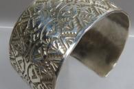 Silver Cuff Bracelet by Dakota Willie