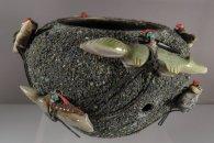 Zuni Fetish Bowl by Edna Leki  (1950s-60s) (view 1)