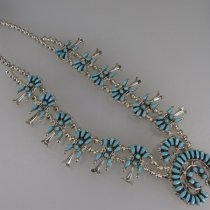 Squash Blossom Necklace with Earrings by Viola Bobelu
