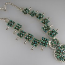 Squash Blossom Necklace  by Kenneth Jones Navajo