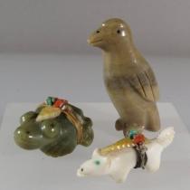 Wolf, frog eagle by Edna Leki, Pete & Dinah Gasper