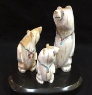 """Zuni Family Bears"" by Troy Sice (view 1)"