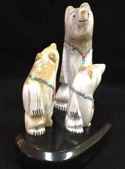 """Zuni Family Bears"" by Troy Sice (view 2)"