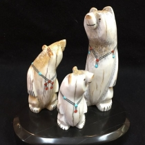 """Zuni Family Bears"" by Troy Sice (view 1)"
