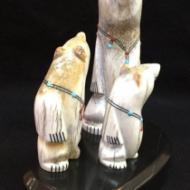"""Zuni Family Bears"" by Troy Sice (view 2)"