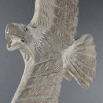 Eagle in Flight (detail) by Pernell Laate