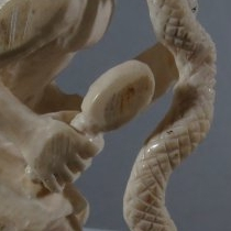 Human, Hopi Snake Dancer (detail) by Pernell Laate