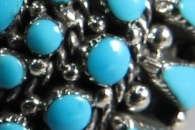 Kingman Turquoise Ring by Darlene Weebothee