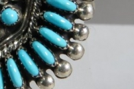 Kingman Turquoise Ring by Connie Seowtewa