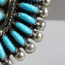 Kingman Turquoise Ring by Connie Seowtewa