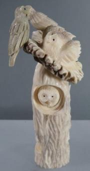 Owls with nest by Ruben Najera