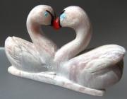 Kissing Swans by Hubert Pincion