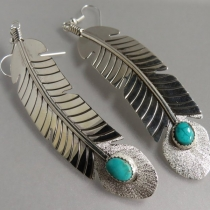 Feather Earrings by Tawney Willie and Alan Cruz