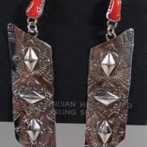 Post dangle Earrings by Tawney Willie and Alan Cruz