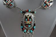 Deer Dancer Choker by Tony & Rita Edaakie